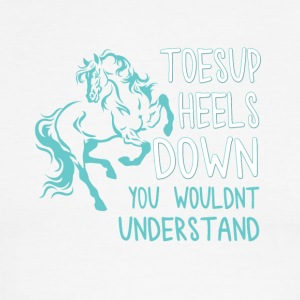 toesup heels down you wouldnt understand - Men's Ringer T-Shirt