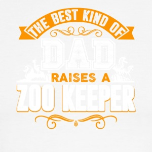 The Best Kind Of Dad Raises A Zoo Keeper Shirt - Men's Ringer T-Shirt
