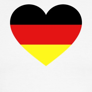 Germany Flag Love Heart Patriotic Symbol - Men's Ringer T-Shirt