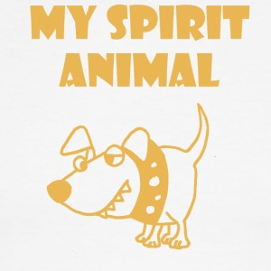 Funny Spirit Animal is a Bad Dog - Men's Ringer T-Shirt