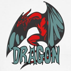 angry_dragon_2_color - Men's Ringer T-Shirt