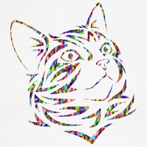 Chromatic Triangular Tribal Kitten 2400px - Men's Ringer T-Shirt