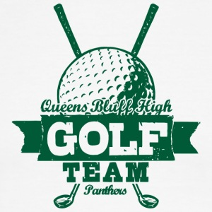 Queens Bluff High Golf Team Panthers - Men's Ringer T-Shirt