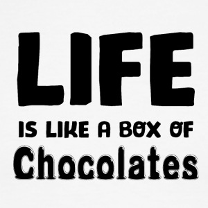 Life is a box of Chocolates - Men's Ringer T-Shirt