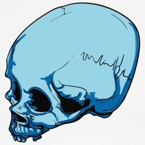 blue_skull_with_scar - Men's Ringer T-Shirt