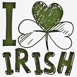I Love Irish St Patrick's Day Green Shamrock - Men's Ringer T-Shirt