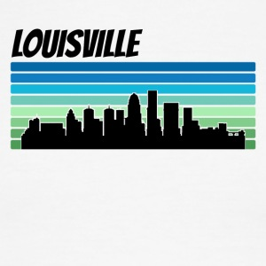 Retro Louisville Skyline - Men's Ringer T-Shirt