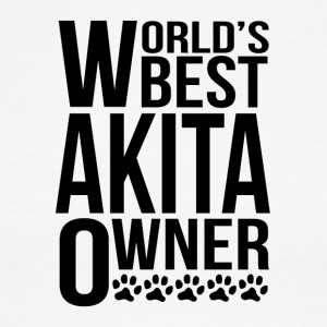 World's Best Akita Owner - Men's Ringer T-Shirt