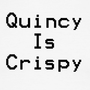 QuincyIsCrispy Text Logo (Black) - Men's Ringer T-Shirt