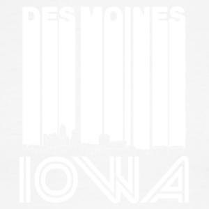 Retro Des Moines Iowa Skyline - Men's Ringer T-Shirt