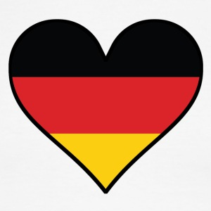 German Flag Heart - Men's Ringer T-Shirt