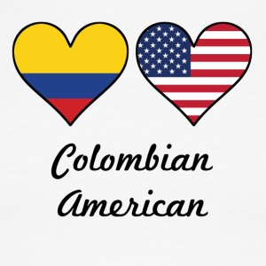 Colombian American Flag Hearts - Men's Ringer T-Shirt