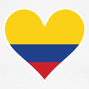 Colombian Flag Heart - Men's Ringer T-Shirt