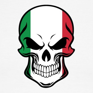 Italian Flag Skull - Men's Ringer T-Shirt