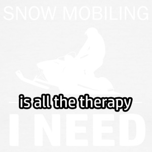 Snow Mobiling is my therapy - Men's Ringer T-Shirt