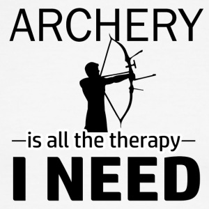 Archery is my therapy - Men's Ringer T-Shirt