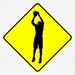 Basketball Crossing Sign - Men's Ringer T-Shirt