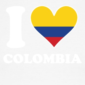 I Love Colombia Colombian Flag Heart - Men's Ringer T-Shirt