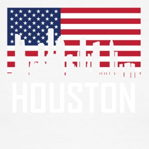 Houston Texas Skyline American Flag - Men's Ringer T-Shirt