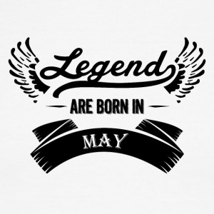 Legends are born in May - Men's Ringer T-Shirt