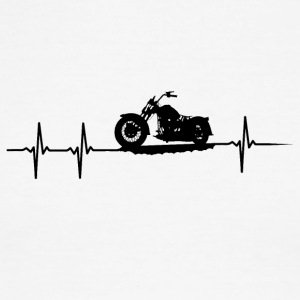make a heartbeat design for Motorbike - Men's Ringer T-Shirt