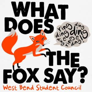 What Does The Fox Say West Bend Student Council - Men's Ringer T-Shirt