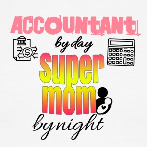 Accountant by day super mom by night - Men's Ringer T-Shirt