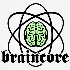 Atomic Nucleus Braincore - Men's Ringer T-Shirt