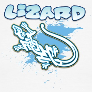 Lizard_with_text_20 - Men's Ringer T-Shirt
