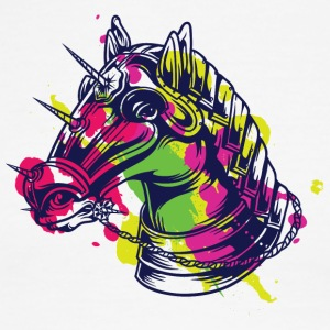 kNIGH HORSE COLOR - Men's Ringer T-Shirt