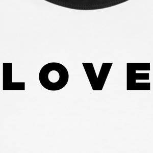 LOVE - Alt. Block Design (Black Letters) - Men's Ringer T-Shirt