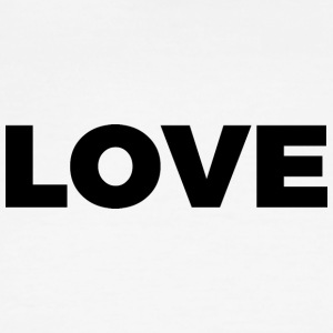LOVE - Block Letters Design (Black Letters) - Men's Ringer T-Shirt