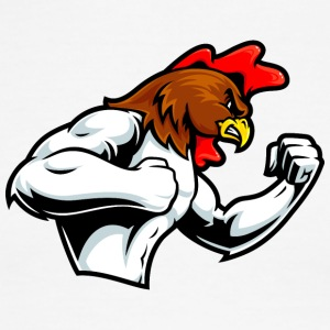 muscular_rooster - Men's Ringer T-Shirt