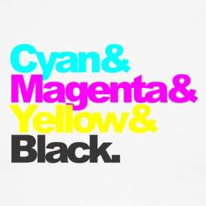 Cyan and Magenta and Yellow and Black - Men's Ringer T-Shirt