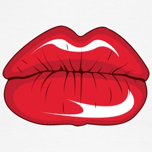 big_red_lips - Men's Ringer T-Shirt