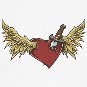 flying_heart_with_wings - Men's Ringer T-Shirt