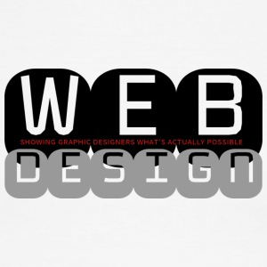 Web Design vs Graphic Design (Monochromatic) - Men's Ringer T-Shirt