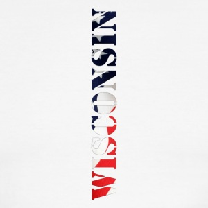 Wisconsin Flag Design - Men's Ringer T-Shirt