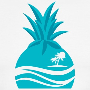 Island Pineapple - Men's Ringer T-Shirt