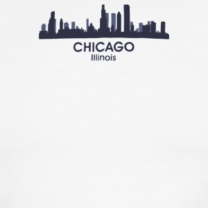 Chicago Illinois City Skyline - Men's Ringer T-Shirt