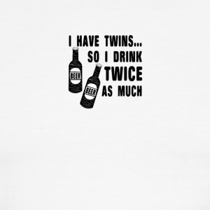 I have twins so i drink twice as much - Men's Ringer T-Shirt