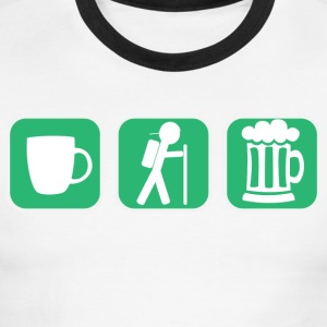 Coffe Hike Beer - Men's Ringer T-Shirt