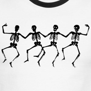 Dancing Skeletons - Men's Ringer T-Shirt