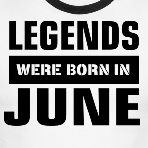 Legends were born in June - Men's Ringer T-Shirt