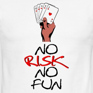 NO RISK NO FUN - Men's Ringer T-Shirt
