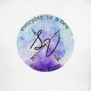 everyday is a new adventure logo - Men's Ringer T-Shirt