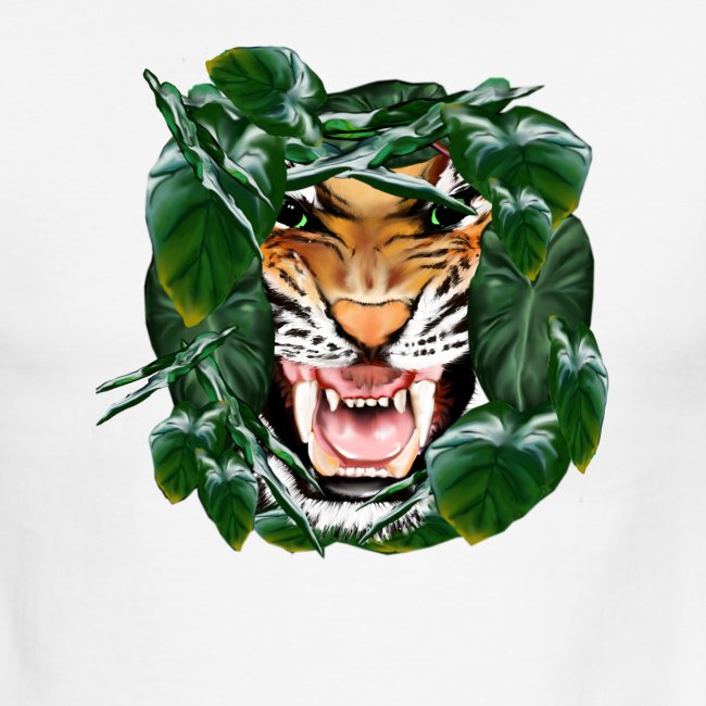 Tiger thru the leaves