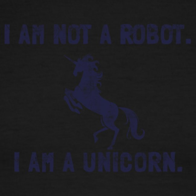 unicorn tall dark blue