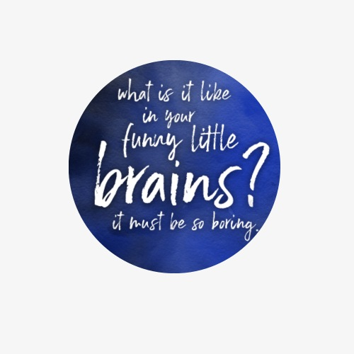 Funny Little Brains - Buttons large 2.2'' (5-pack)