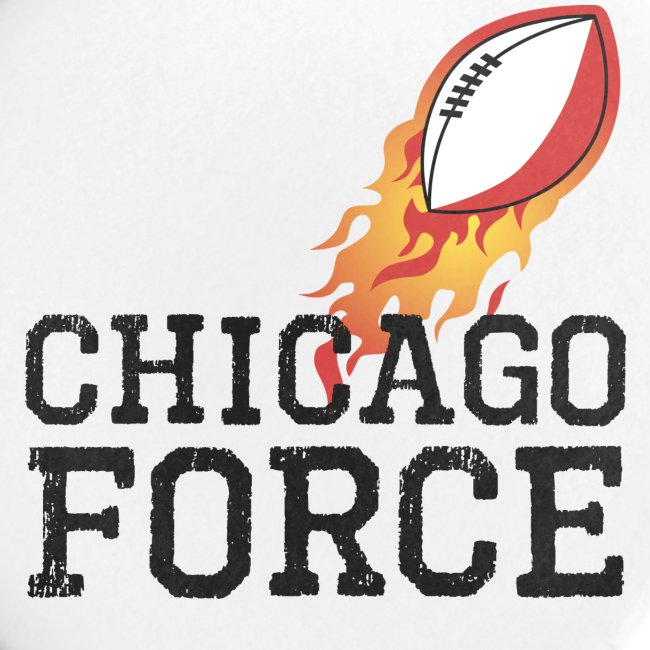 Chicago Force black w flaming football